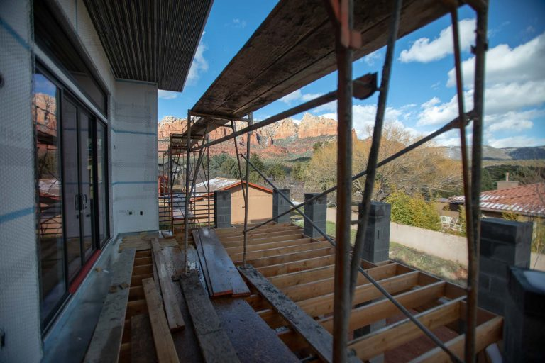 New build deck under construction