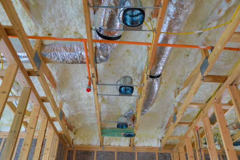 ceiling construction in new build
