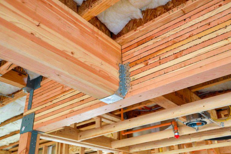 beam construction of floor joists in new build