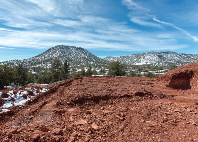 Foundation Dig Site Sedona General Contractor